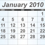 January 2010 Desktop Calendar. — Stock Photo