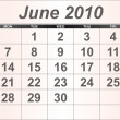 Royalty-Free Stock Photo: June 2010 Desktop Calendar.