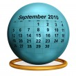 Stock Photo: September 2010 Desktop Calendar.