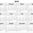 Royalty-Free Stock Vector Image: Calendar of 2010 year.