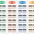 Royalty-Free Stock Vector Image: Calendar of 2009-2012 years.