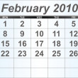 Stock Photo: February 2010 Desktop Calendar.