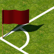 Stock Photo: Soccer Corner Marking and Flag.