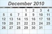December 2010 Desktop Calendar. — Stock Photo