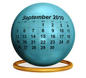 September 2010 Desktop Calendar. — Stock Photo