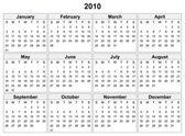 2010 年のカレンダー. — ストックベクタ