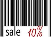 Stroke-code sale 10 % — Stock Vector