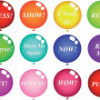 Royalty-Free Stock Immagine Vettoriale: Multi-coloured balls with words
