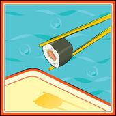 Suhi-roll — Stock Vector