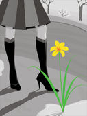 Slim legs — Stock Vector