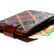 Royalty-Free Stock Photo: Purse with money over white