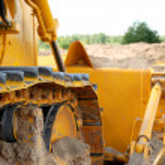 Bulldozer track in action — Stock Photo #1042748