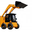 Skid steer loader (isolated) — Stock Photo