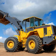 Five-ton wheel loader buldozer - Stock Photo