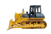 Side view of bulldozer on white — Stock Photo