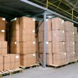 Royalty-Free Stock Photo: Catron boxes in warehouse