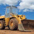 Stock Photo: Wheel loader bulldozer