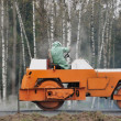 Orange road roller — Stock Photo #1052010