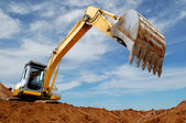 Excavator loader in sandpit — Foto Stock