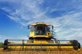 Combine in the field — Stock Photo