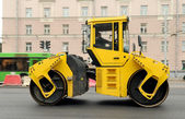 Yellow Asphalt Paving Machine — Stock Photo