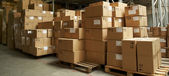 Catron boxes in warehouse — Stock Photo