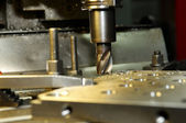 Milling the metal blank — Stock Photo