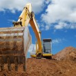 Stock Photo: Excavator Loader bulldozer with big buck