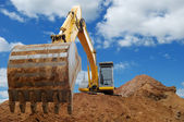 Excavator Loader bulldozer with big buck — Stockfoto