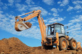 Excavator Loader with rised backhoe — Stockfoto
