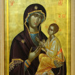 Icon of Budslav Mother of God and child - Stock Photo