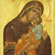 Icon of Madonna Mother of God (Mary) and — Stock Photo