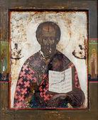 Icon of Saint Nicolas — Stock Photo