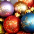 Heap of christmas decoration balls - Stock Photo