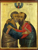 Icon of Apostles Peter and Paul — Stock Photo