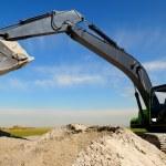 Excavator loader in sandpit — Stock Photo #1281545