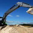 Excavator loader in sandpit — Stock Photo #1281561
