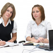 Two businesswomen at work — Stock Photo