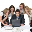 Business team shudder with horror - Stock Photo