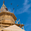 Stock Photo: Wooden church under construction