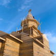 Wooden church under construction — Stock Photo