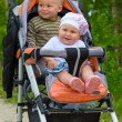Royalty-Free Stock Photo: Two babies in children buggy