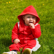Child on a grass — Stock Photo