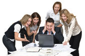 Business team surprised — Stock Photo