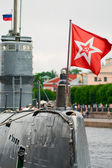 Russian diesel submarine — Stock Photo