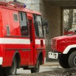 Stock Photo: Fire engines