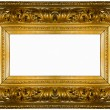 Stock Photo: Golden thick frame
