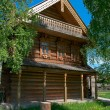 Stock Photo: Wooden big house from timbers