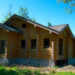 Stock Photo: Wooden house construction
