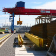 Goliath crane on the storage yard — Stock Photo